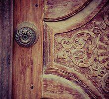 fancy details- door carving, Luang Prabang, Laos by Andrianne
