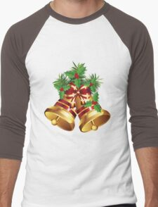 Golden Christmas Bells Men's Baseball ¾ T-Shirt