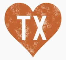 I Love Texas horns Kids Tee