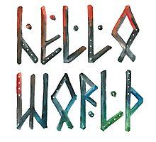 Hello world! Photographic Print
