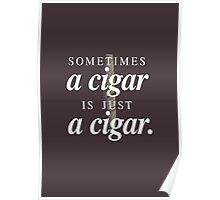 Freud's cigar Poster