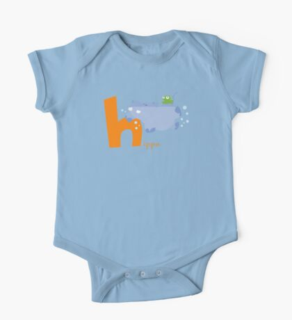 h for hippo One Piece - Short Sleeve