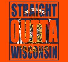 Straight Outta Wisconsin Flag Kids Tee
