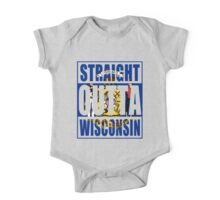 Straight Outta Wisconsin Flag One Piece - Short Sleeve