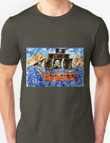 Pirate Boat Unisex T-Shirt