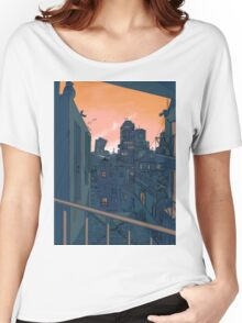 Cityscape in the Evening Women's Relaxed Fit T-Shirt