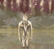 Tree spirit from the woods lake Sticker