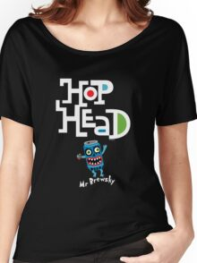 Hop Head (Mr Brewsky) - on darks Women's Relaxed Fit T-Shirt