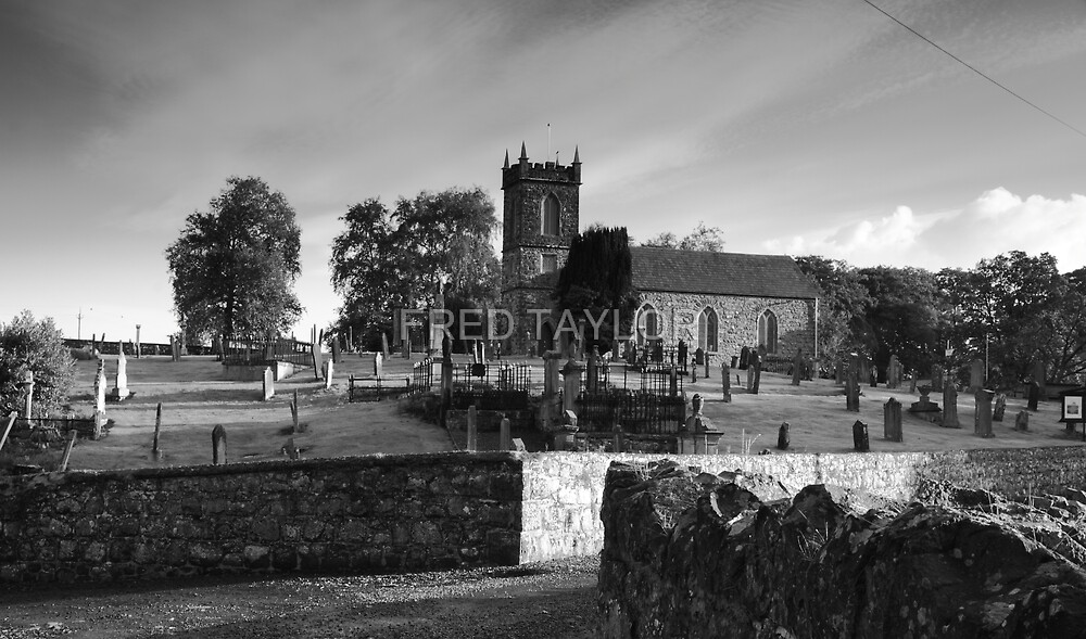 Church sitting on hill. by Fred Taylor