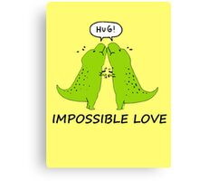 Impossible Love- T-rex edition  Canvas Print