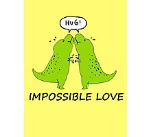 Impossible Love- T-rex edition  Photographic Print