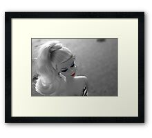 Barbie on the beach Framed Print