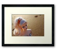 Beach Barbie Framed Print