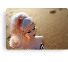 Beach Barbie Canvas Print