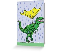 Dino has a bad day Greeting Card