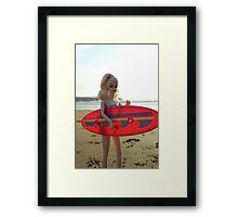 Surfs up Barbie Framed Print