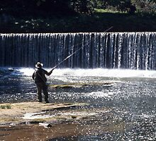 Fishing on the River Coquet by Kevin Allan