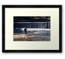 Fishing on the River Coquet Framed Print
