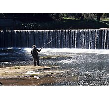 Fishing on the River Coquet Photographic Print