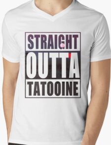 Retro Straight Outta Tatooine Mens V-Neck T-Shirt