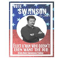 Vote ron swanson! by kurticide