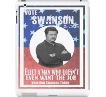 Vote ron swanson! iPad Case/Skin