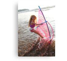 Vintage windsurf Barbie Canvas Print