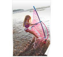 Vintage windsurf Barbie Poster