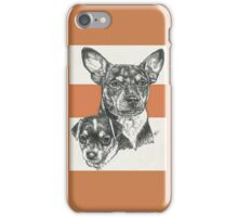 Rat Terrier, Father & Son iPhone Case/Skin