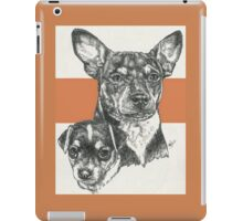 Rat Terrier, Father & Son iPad Case/Skin