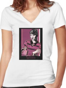 Anna May Wong 1920s Portrait  Women's Fitted V-Neck T-Shirt