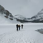 The start of a long trek, Bow Lake, Canada by KerryElaine