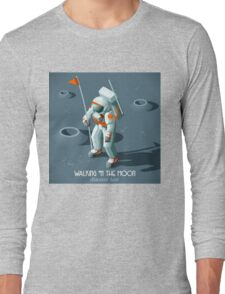 Isometric Moonwalking Astronaut Long Sleeve T-Shirt