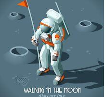 Isometric Moonwalking Astronaut by aurielaki