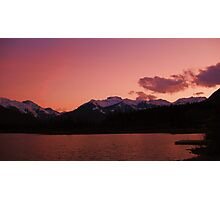 Pink Sky at night, Banff National Park, Canada Photographic Print