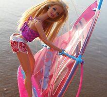 Pink Barbie surfing by shootingnelly