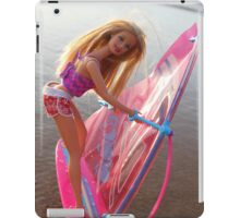 Pink Barbie surfing iPad Case/Skin