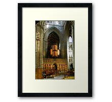 Entrance to the Choir at Ripon Cathedral Framed Print