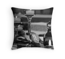 Blank Black Ink and the Candles Fawn Throw Pillow