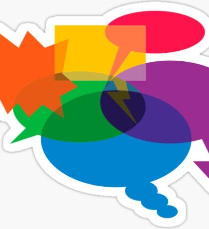 Speech Bubbles Sticker