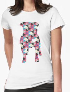 Pitbull Silhouette Womens Fitted T-Shirt