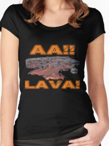 AAH! Lava Women's Fitted Scoop T-Shirt