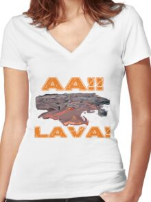 AAH! Lava Women's Fitted V-Neck T-Shirt