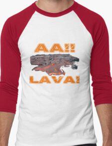 AAH! Lava Men's Baseball ¾ T-Shirt