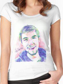 Jacksepticeye Pen Portrait Women's Fitted Scoop T-Shirt