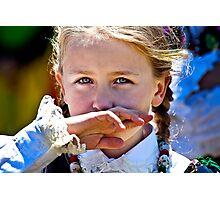 Polish Little Girl Photographic Print