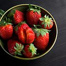 Juicy Strawberries Up Close  by SpicieFoodie