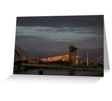 Glasgow at night Greeting Card