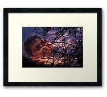 Unique sunset Framed Print