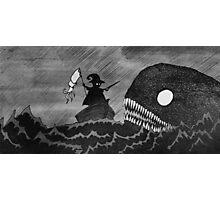 Tailor vs Sea Monster Photographic Print